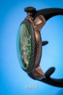 GaGà Milano Skeleton Unisex Mechanical Watch 48MM Coffee PVD