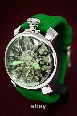 GaGà Milano Skeleton Unisex Mechanical Watch 48MM Green