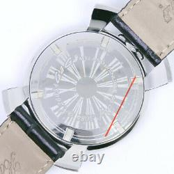 Gaga Milano 5084 Manuale 46 Watches black/Red Stainless Steel/leather mens