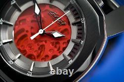 Gaga Milano Frame One Unisex Automatic Watch Skeleton Red
