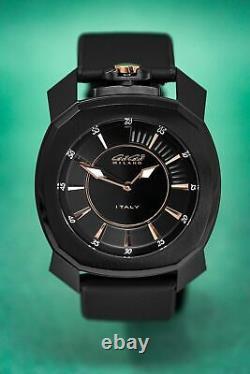 Gaga Milano Frame One Unisex Watch Black PVD