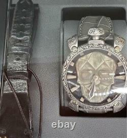 Gaga Milano Limited 300 Hand-carved Skull Watch with Replacement Belt