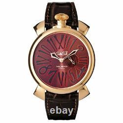 Gaga Milano Slim Unisex Quartz Watch 46 Rose Gold Brown
