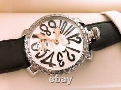 Gaga Milano Watch Genuine Diamond 5010. D Men's Watch