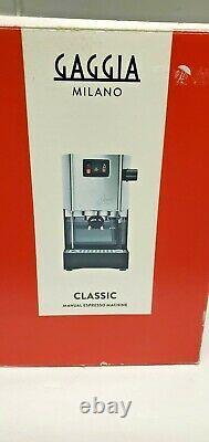 Gaggia Milano Classic RI9303/47 Home Espresso MachineMint Cond in Original Box