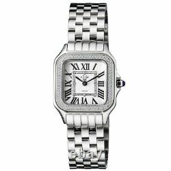 Gv2 By Gevril Women's 12100B Milan White Dial Diamond Stainless Steel Wristwatch