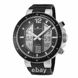Jacques Lemans Men's Milano 50mm Black Dial Silicone Watch