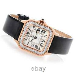 NEW GV2 Gevril Milan Limited Edition Swiss Made Diamond Leather strap Rose Gold