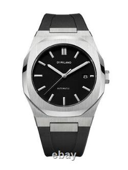 NEW ORIGINAL D1 Milano Automatic Rubber Silver ATRJ01 Watch / NO TAXES