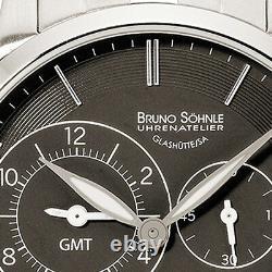 New Bruno Söhnle (Sohnle) Glashütte MILANO GMT 2 Quartz watch 17-13043-742
