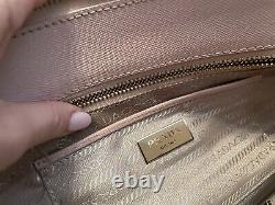 PRADA MILANO Beige Leather Designer Bag Handbag Shopper GALLERIA SAFFIANO Tote