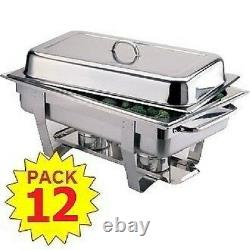 Pack 12 Milan Stainless Steel Chafing Dish Sets Free Next Day Delivery
