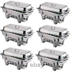 Pack Of 6 Milan Stainless Steel Chafing Dish Sets Free Next Day Delivery