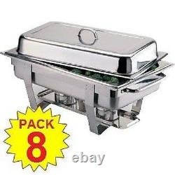 Pack Of 8 Milan Stainless Steel Chafing Dish Sets Free Next Day Delivery