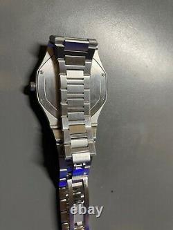 SUPER MINT D1 Milano Ultra Thin Watch Blue & Silver metal bracelet BOX+PAPERS