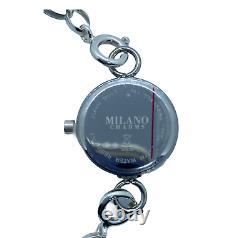 Stainless Steel Watch Quartz Analogue Sterling Silver Bracelet & Diamonds 8