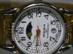 Women's Milan True Moon Phase Gold Date Watch. Perfect Fit Band. 2 Year Warranty