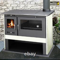Wood Burning Range Stove Oven Cooker Multi Fuel Milan Ivory Modern Stove