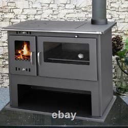 Wood Burning Range Stove Oven Cooker Multi Fuel Milan LUX Modern Stove