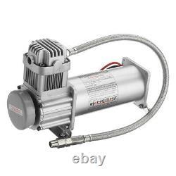 12v 200psi Air Compressor 1/4'' Kit De Tuyau Pour La Suspension Klaxons De Train De Camion De Voiture