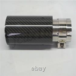 4x Real Carbon+steel Car Exhaust Muffler Tip 2.5 Entrée 3.2od Pour Bmw M 3 4 5