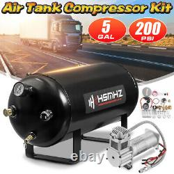 5 Gallon 12v Horn Air Tank 200 Psi Compresseur Système Embarqué Pour Camion De Train Rv