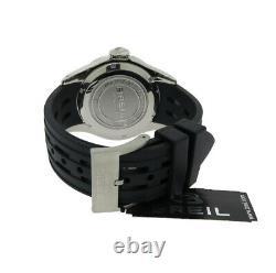 Breil Milano Manta Bw0400 Men's Round Analog Date Black Resin Watch