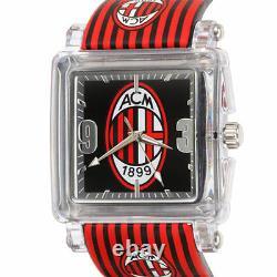 Chronotech Rare A. C. Milan Watch Msrp 850 $ (disponible Dans 4 Échantillons Uniques)
