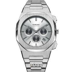 D1 Milano Chronograph Quartz Silver Soleil Dial Men's Watch Chbj03