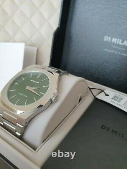 D1 Milano Moss Ultra Thin Bracelet 40 MM Flambant Neuf