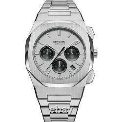 D1 Milano Panda Chronograph Quartz Silver Dial Montre Homme Chbj05