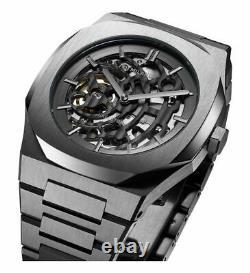 D1 Milano Skeleton Watch 41.5 MM Gunmetal Automatic Steel Skbj02