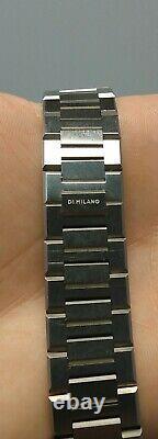 D1 Milano Ultra Mince Montre 40mm Bleu & Argent Bracelet En Métal
