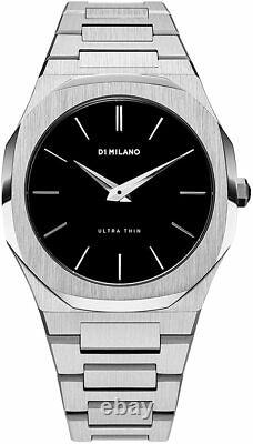 D1 Milano Ultra Thin Black Dial Montre Homme En Acier Inoxydable A-utb01