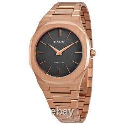 D1 Milano Ultra Thin Quartz Black Dial Watch Utbj08