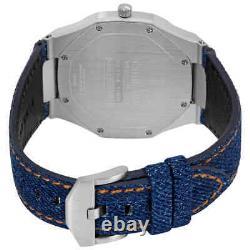 D1 Milano Ultra Thin Quartz Blue Dial Montre Homme Utdj01