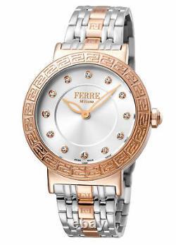 Ferre Milano Femme Fm1l041m0221 Mop Dial Montre-bracelet En Acier Inoxydable Bicolore