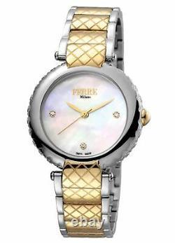 Ferre Milano Femme Fm1l099m0081 Montre-bracelet Ip En Acier Inoxydable Bicolore