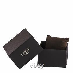 Ferre Milano Femmes Fm1l102m0091 Cadran Argenté Bracelet En Mailles Ip En Acier Inoxydable