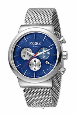 Ferre Milano Homme Fm1g106m0051 Chronograph Stainless Steel Ip Mesh Date Watch