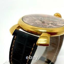 Gaga Milano 5085.2 Squelette Manure 46 Quartz Wristwatch Or/pink Or