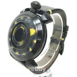 Gaga Milano 9092 Manuelle 48mm Mystery Jeune Wristwatch Ss X Ceinture En Cuir Noir