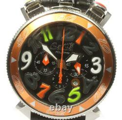 Gaga Milano Chrono 48 6050.1 Date Noir Dial Quartz Men's Watch 574713
