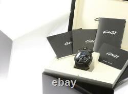 Gaga Milano Chrono 48mm Revêtement Ip 8012.01 Date Chronograph Quartz Homme 574335