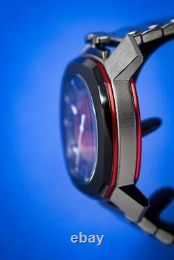 Gaga Milano Frame One Unisex Automatic Watch Skeleton Rouge