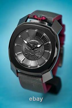 Gaga Milano Frame One Unisex Quartz Watch Skull Grey