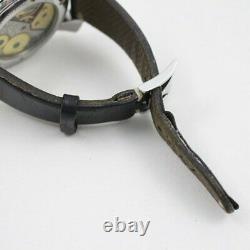 Gaga Milano Manuale 48 Collection Art 5010art. 02s Crâne À Remontage Des Mains Cadran Noir