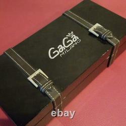 Gaga Milano Manuale 48mm Montre Utilisée Manuel Winding Montre Blanche Avec Boîte