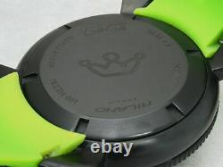 Gaga Milano Manuale Chrno 6054.2 Ss Rubber Belt Quartz Mens Watch Used Authentic