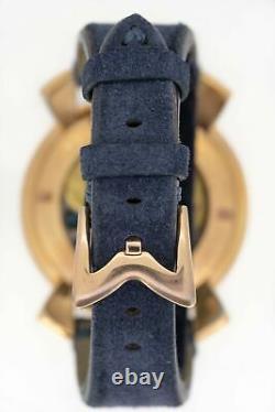 Gagà Milano Manuale Montre Mécanique Homme 48mm Vintage Bleu